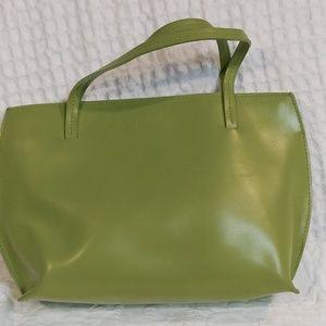 Furla Green Leather Small Tote
